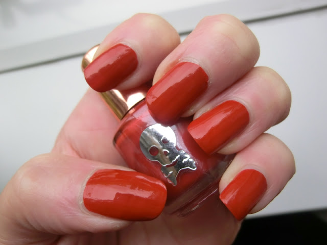 Simple Pleasures Red Polish Swatch
