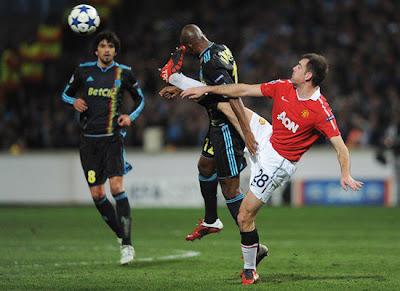 Champions League, Darroon Gibson Man Utd, Charles Kabore Marseille