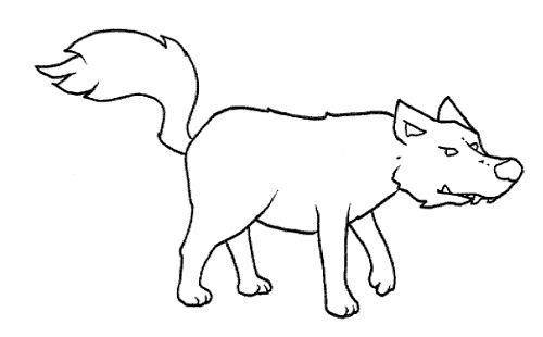 Dibujo para colorear de un lobo  Imagui