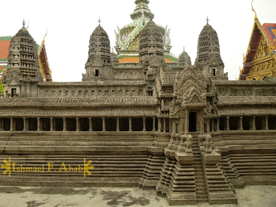 Miniature Angkor Wat in Bangkok Grand Palace