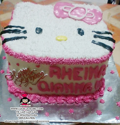 Kue Tart Hello Kitty 3D Kepala Daerah Surabaya - Sidoarjo