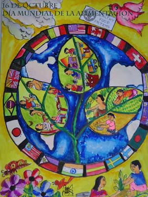 Dibujo realizado por Maysha Mahfuz Medha una niña de entre 5 y 8 años de Bangladesh