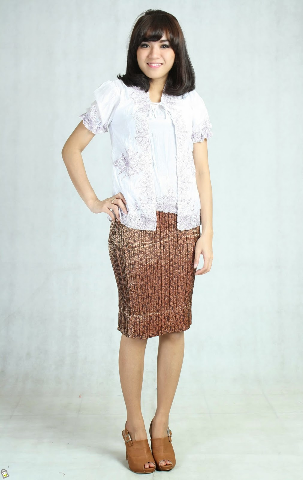 Wohnzimmermbel Modern Modell : Ragam model baju kebaya lengan pendek kumpulan