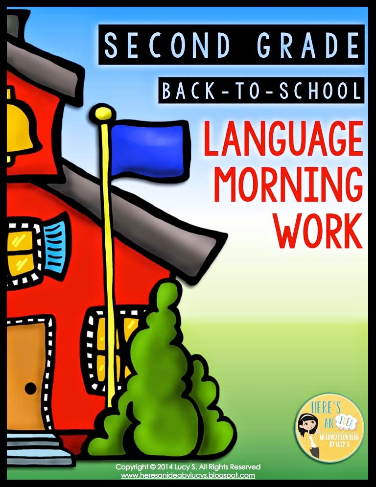 2nd grade BACK TO SCHOOL language morning work