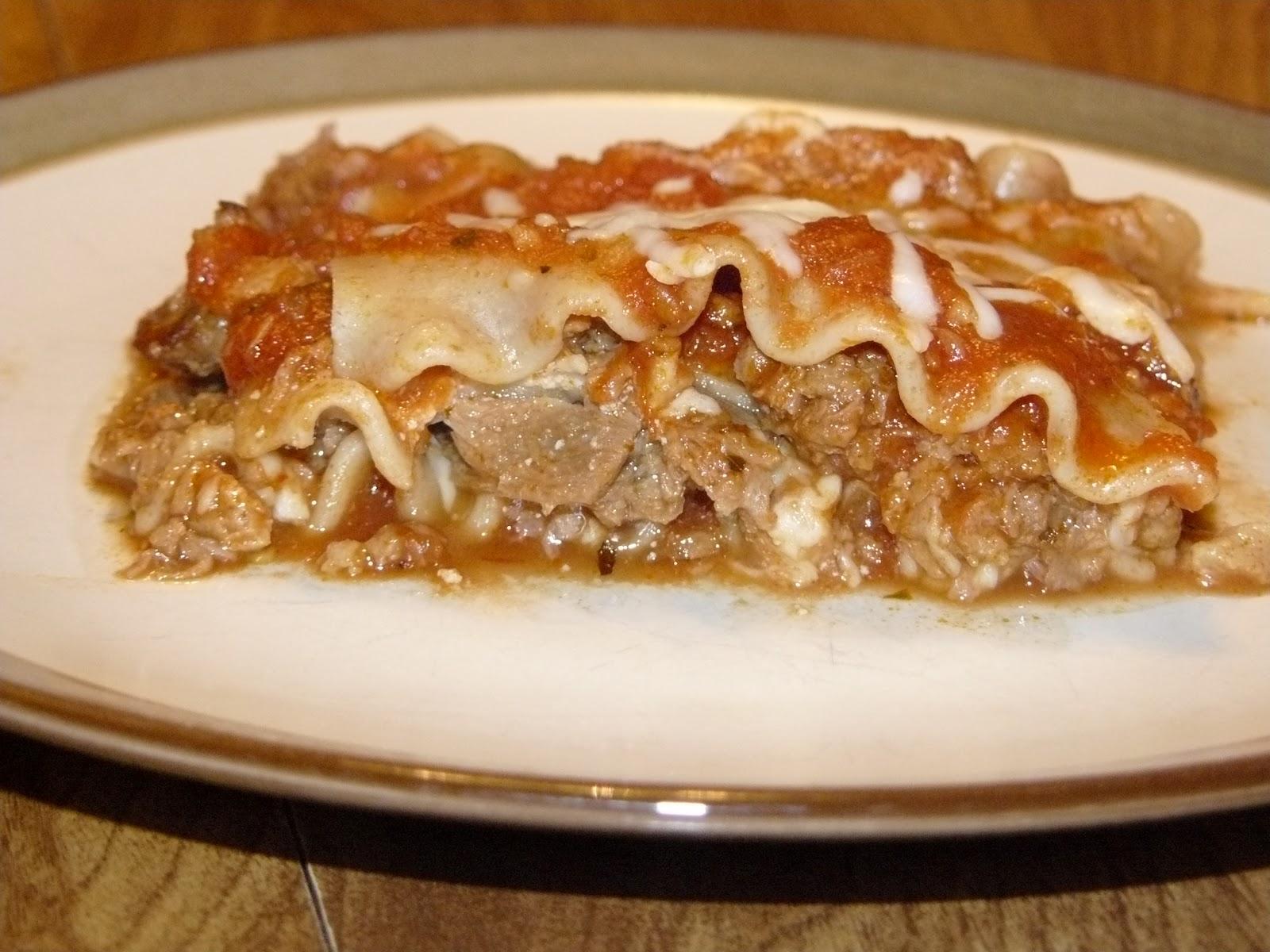 """chookie chookie: vegetarian """"meat"""" lasagna"""