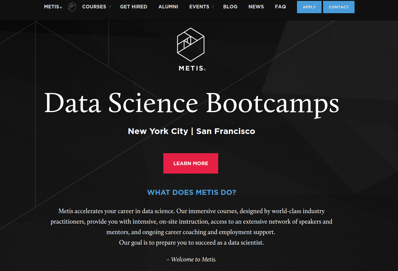 yet another data blog data science bootcamp programs full time interview metis data science cofounder