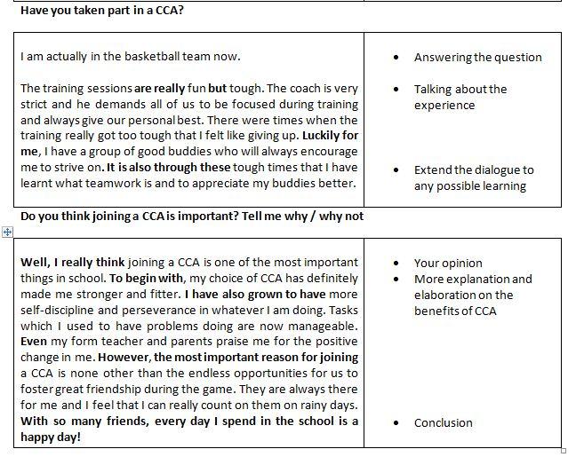 importance of cca essay