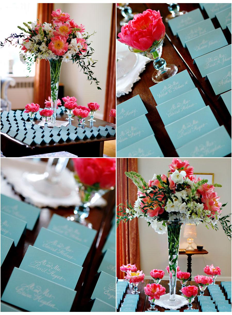 decoracao de casamento azul tiffany e amarelo: já é uma combinação com três cores: azul tiffany, branco e rosa
