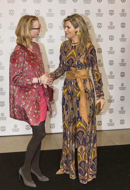 Queen Maxima of The Netherlands attends the official opening of the 45th edition of Rotterdam International Film Festival (IFFR)
