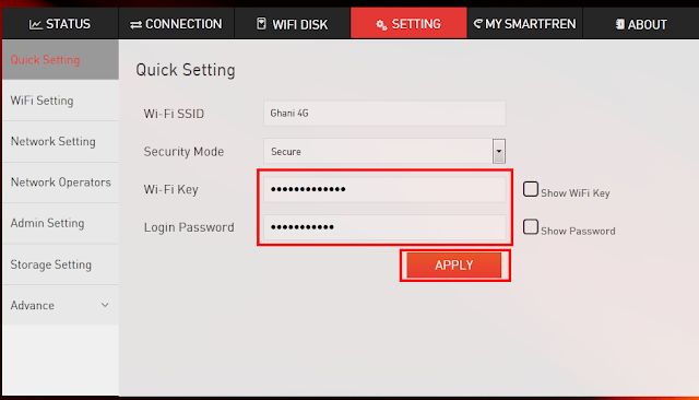Cara Merubah Password Wifi Andromax