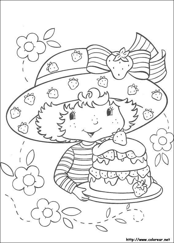 Láminas para Colorear - Coloring Pages: Frutillitas para dibujar ...