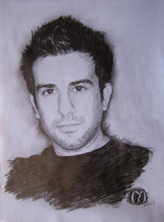 self portrait drawing by metris