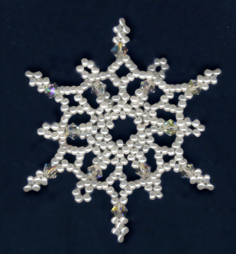 free bead patterns and ideas snowflake 7 ornament pattern