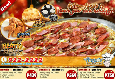 Angel's Pizza promo flyer