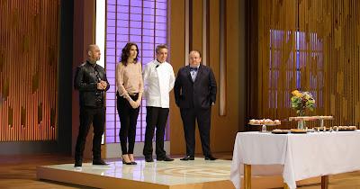 """Jurados recebem o chef Fabrice Le Nud na cozinha do """"MasterChef"""" - Divulgação/Band"""