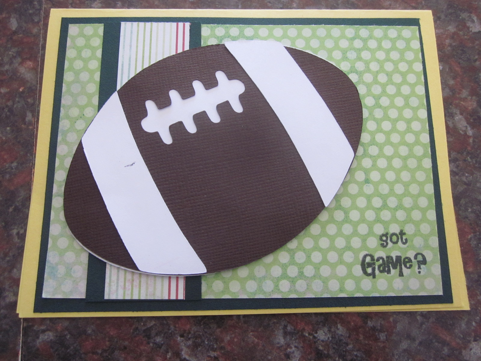 Scrappyhappymommy designs football birthday cards for this card i used my boys will be boys cricut cartridge and a cardz tv stamp set easy peasy bookmarktalkfo Gallery