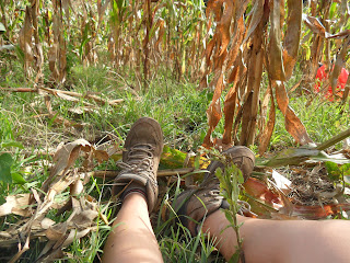 Arlene resting tired feet