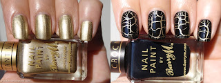 Barry M Gold Foil and croc nail effects