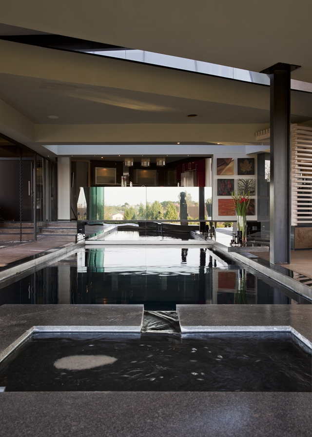 Indoor swimming pool in the modern house