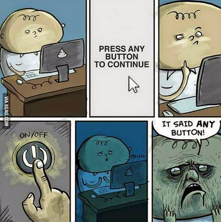 any button to continue