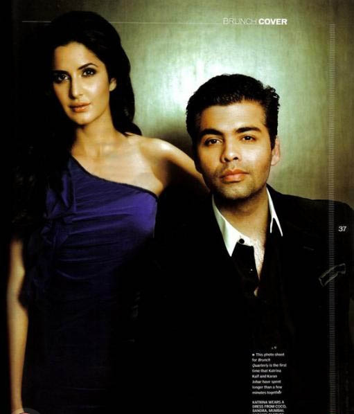 Katrina Kaif Brunch Magazine Scan1 - Katrina Kaif & Karan Johar on Brunch Magazine Scans