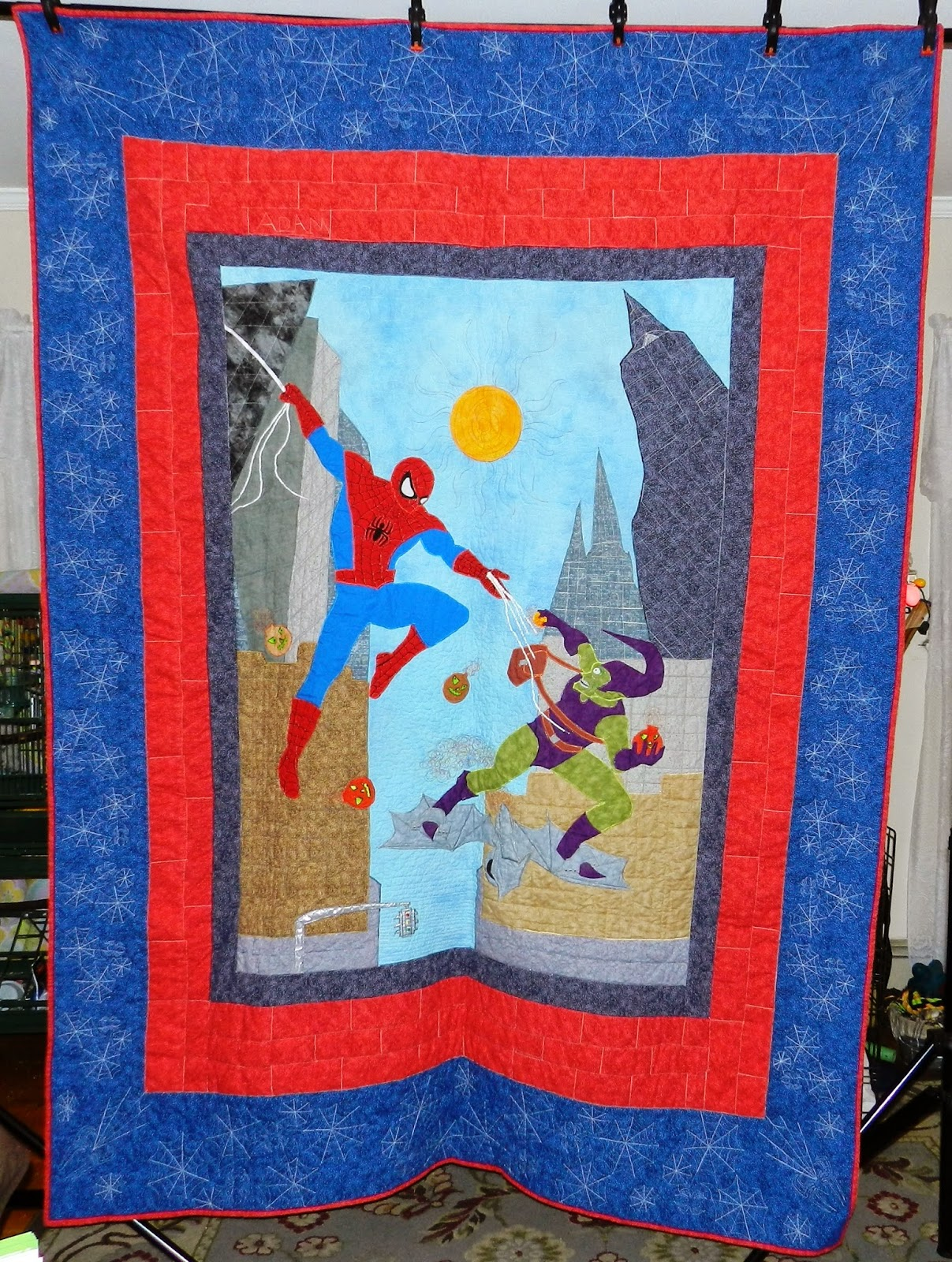 Dinah's Quilts and Embroidery: Spider-Man Quilt : spiderman quilt - Adamdwight.com