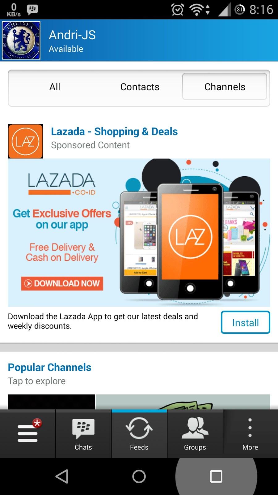 BBM dengan Ads atau Iklan | Cara Menghilangkan Ads atau Iklan Di BBM for Android (Rooted)