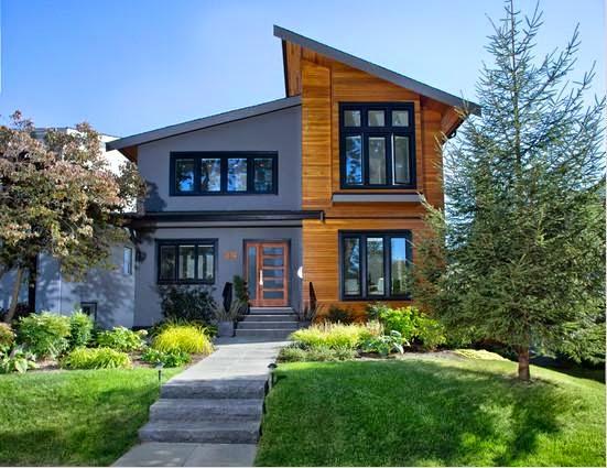 Rumah Kayu Minimalis 2 Lantai yang Elegan
