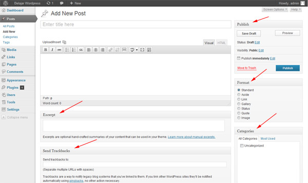 post editor wordpress