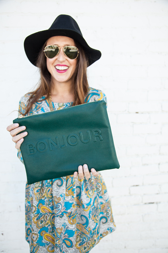 Here&Now: bonjour clutch
