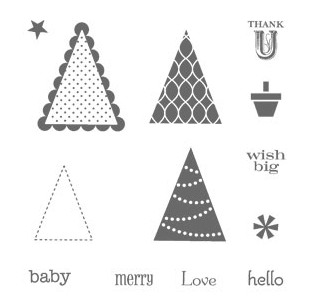 Stampin' Up! Pennant Parade Rubber Stamp Set