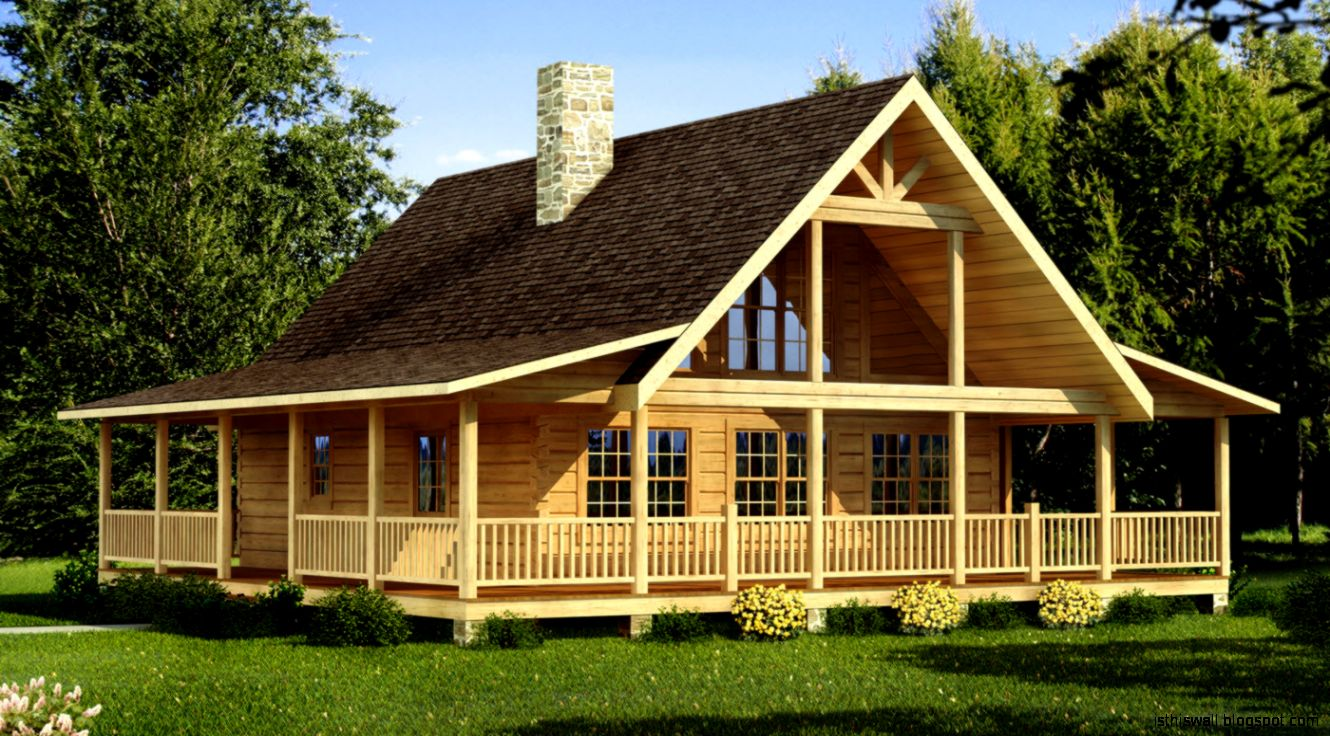 Log cabin homes designs this wallpapers for Cabin home floor plans