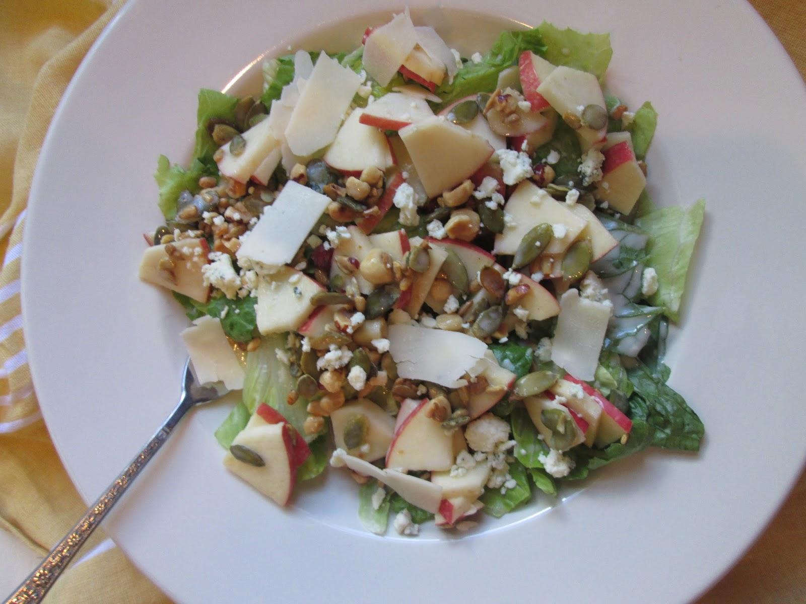 Stirring the Pot: Apple, Blue Cheese, and Hazelnut Salad