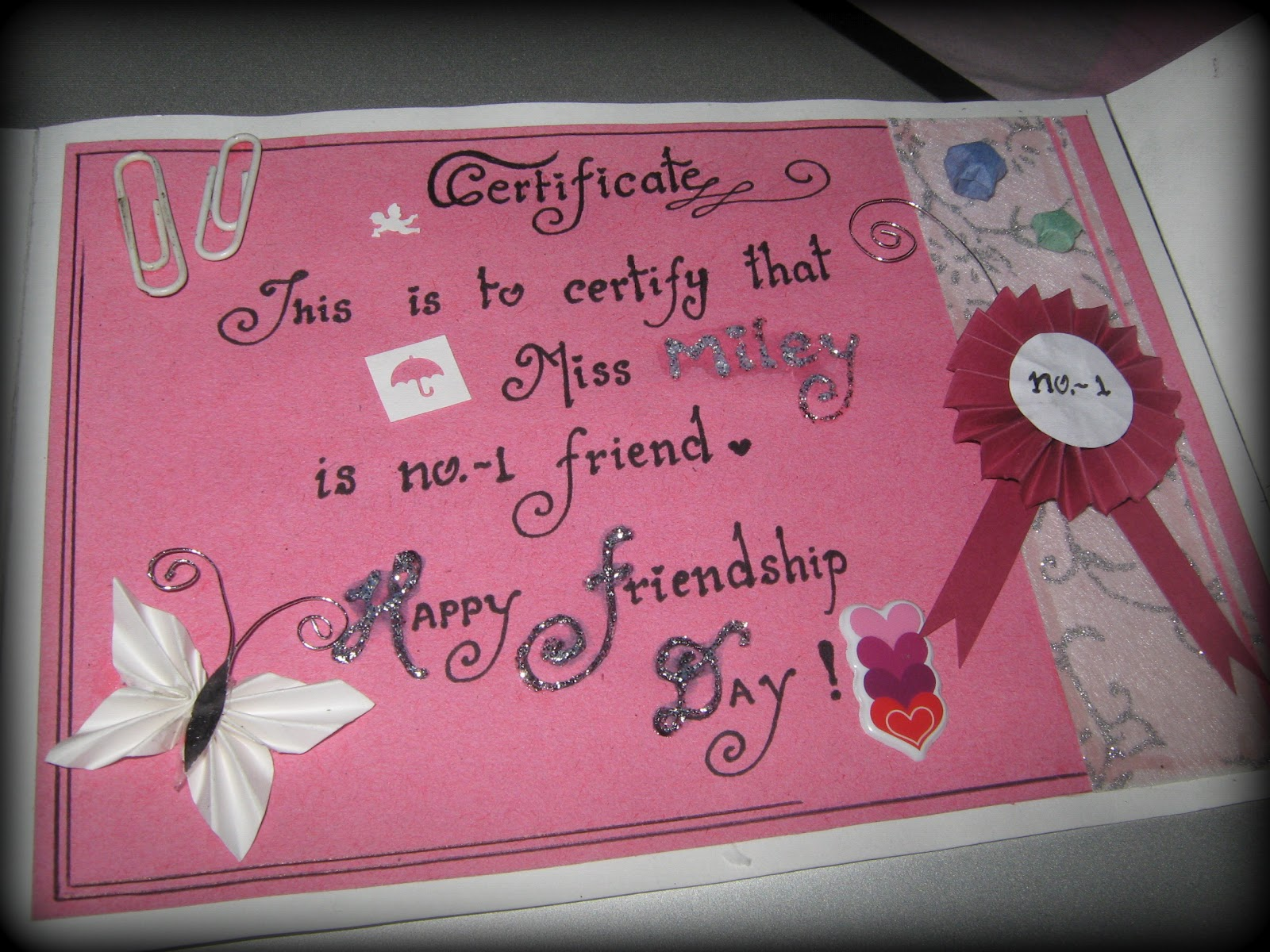 Friendship Day Card Icandy Craft
