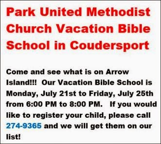 7-22 Thru 7-25 Vacation Bible School