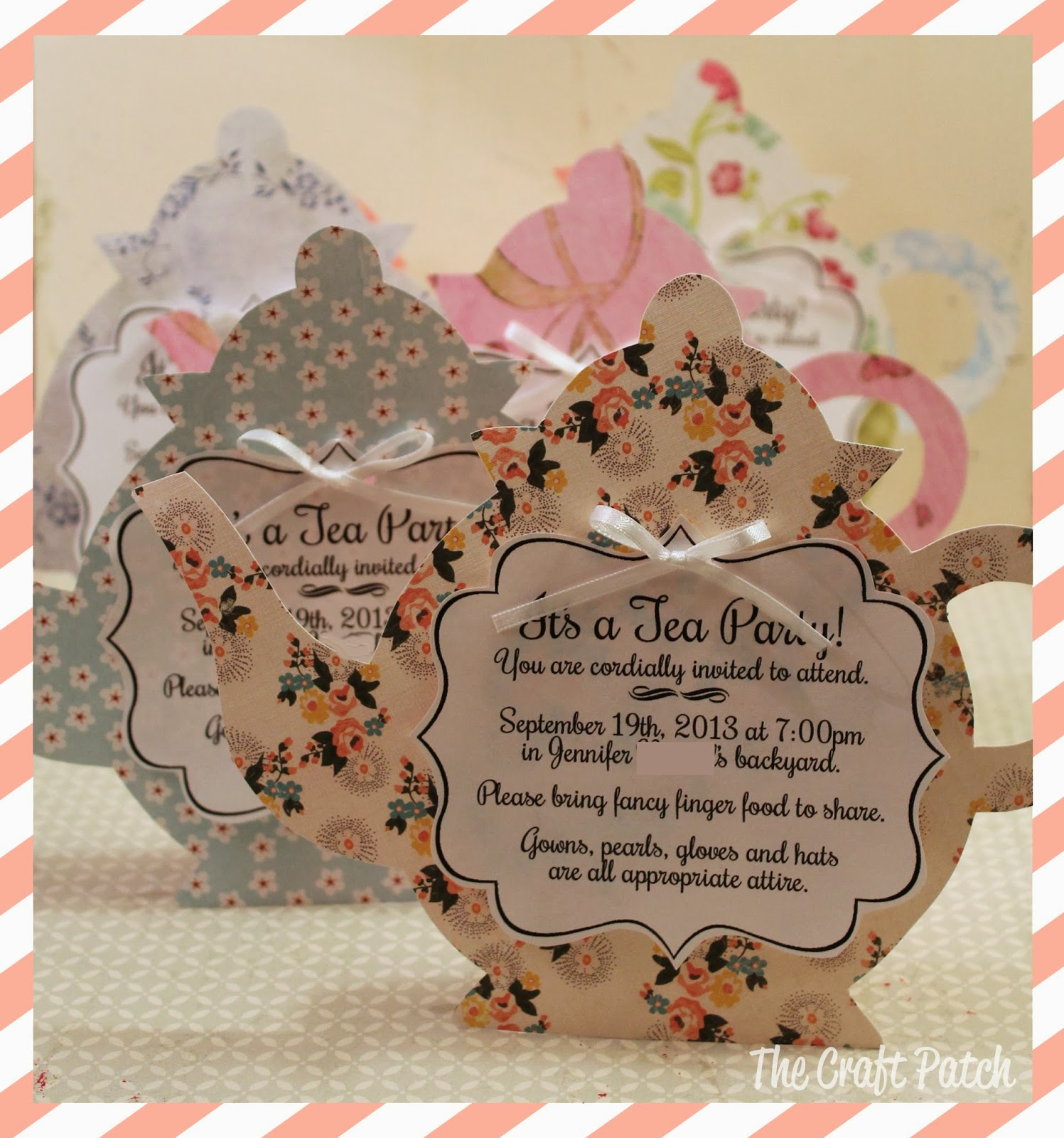A Tea Party! - thecraftpatchblog.com