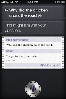 Siri: Why did the chicken cross the road?