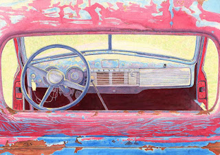 "1947 Chevrolet Truck - Watercolor - 14"" x 20"""