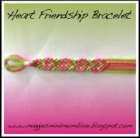 heart pattern, friendship bracelet, embroidery floss