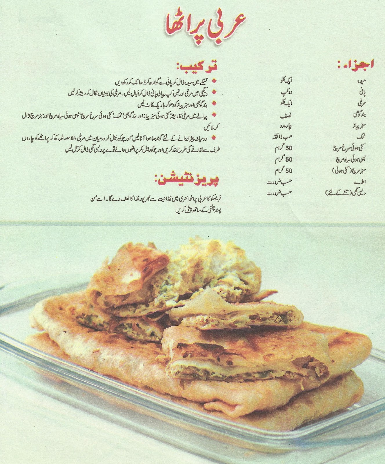 Coking philospher 2012 arabi pratha a arabic cooking recipe in urdu forumfinder Choice Image