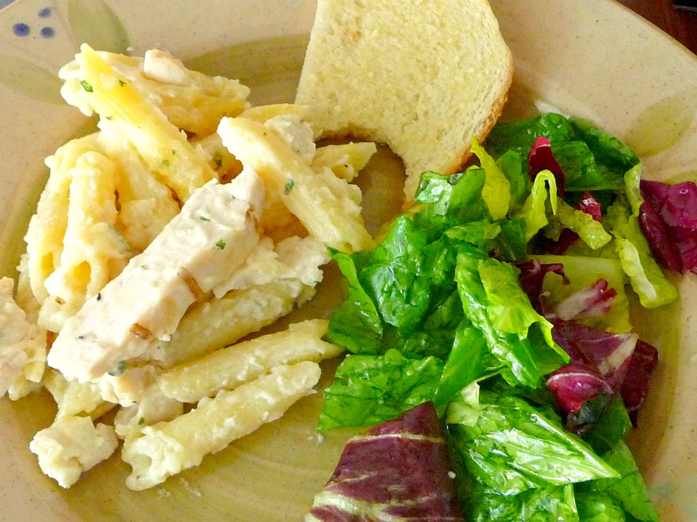 how to make chicken alfredo penne