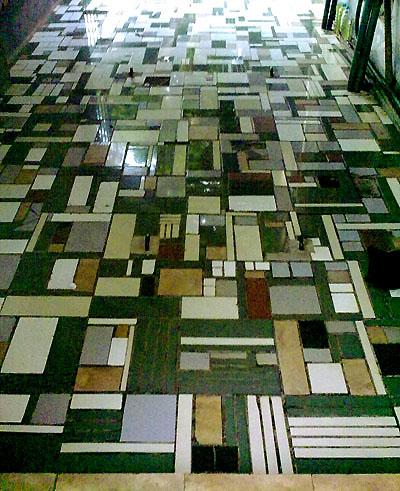 keramik tsb. dapat dimanfaatkan kembali sebagai bahan penutup lantai