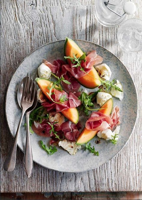 Meloen Rauwe Ham Salade