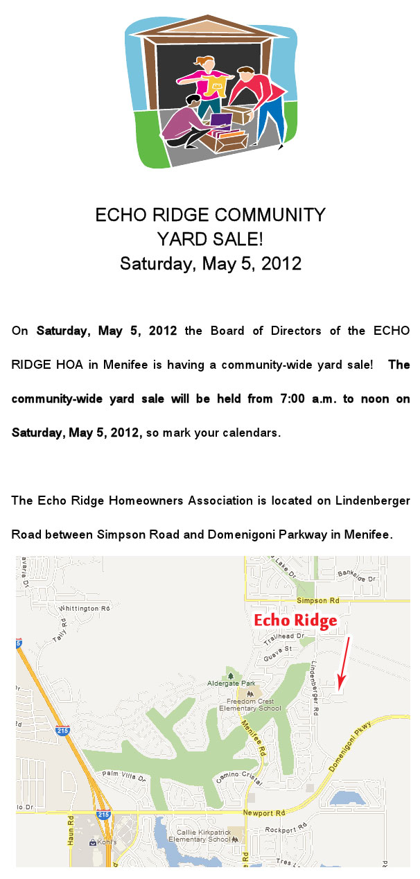 echo ridge yard sale
