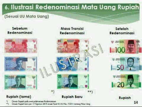 Penampakan Mata Uang Hasil Redenominasi, Rp 1.000 Jadi Rp 1