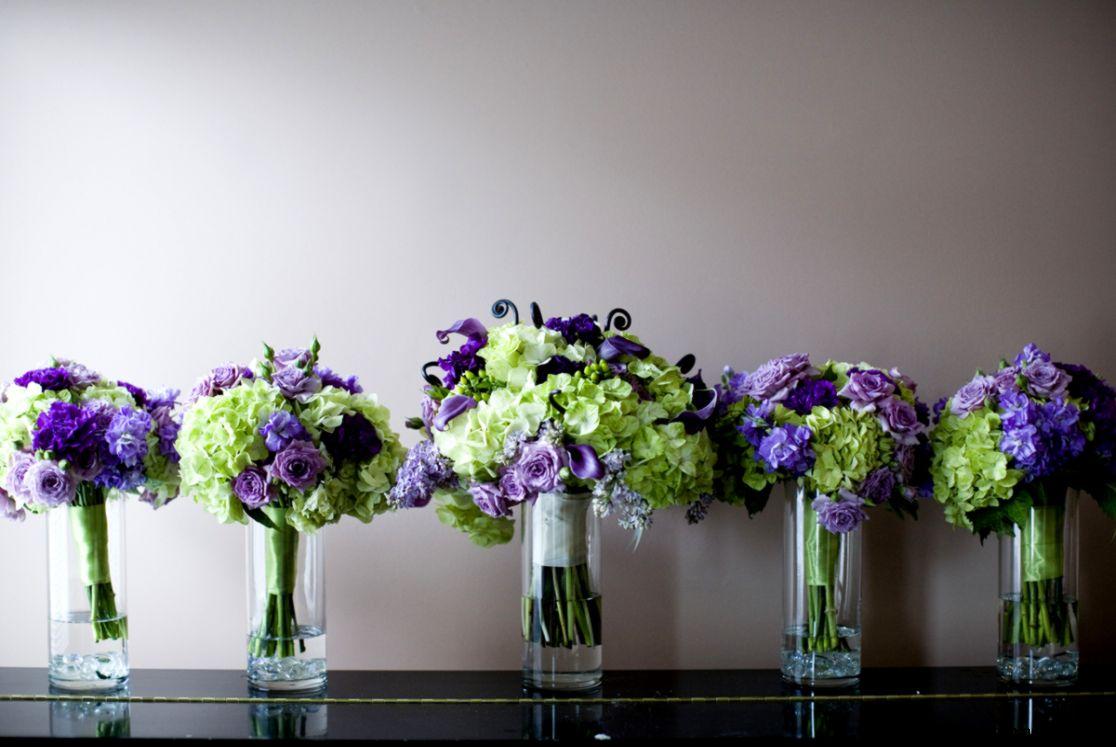 Elegant Purple Wedding Flower Arrangements For Church Matched With