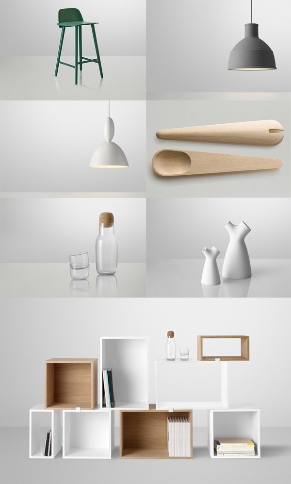 Life As A Moodboard White And Green For Muuto 2013