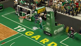 NBA 2K13 TD Garden HD Court Patch
