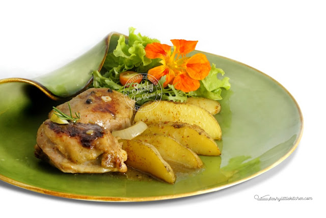 Pan Roasted Chicken & Potato with Rosemary & Lemon