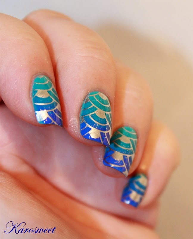 L'Océan sur mes ongles et stamping
